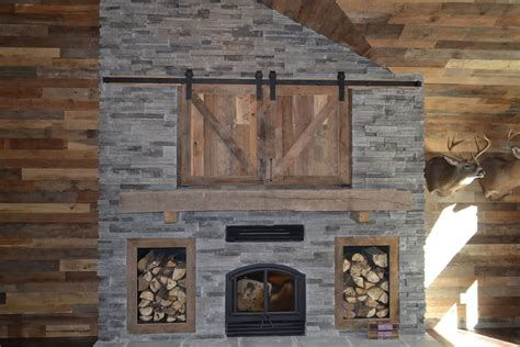 Reclaimed Fireplace Surround by Wood Log Fireplace Mantels Enterprise Wood Products