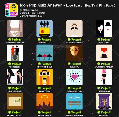 love film quiz answers jawaban icon pop quiz love season tv film