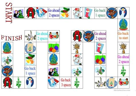 printable board games christmas christmas board game worksheet free esl printable