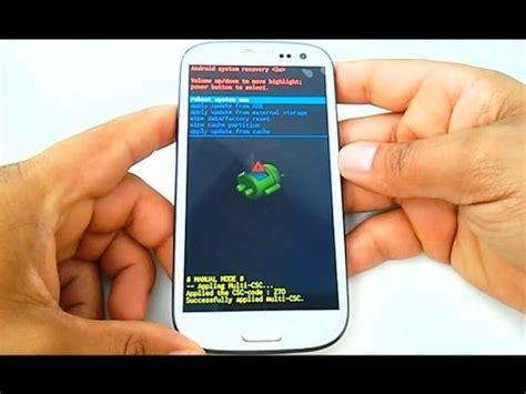 hard reset samsung i9300 hard reset samsung galaxy s3 gt i9300 i9305 como
