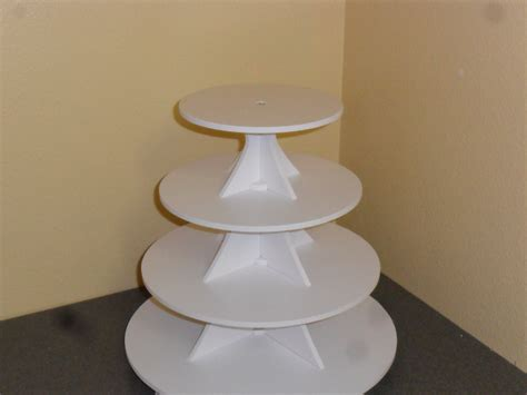 Etagere Cupcake by 4 Tier Or Scallop Cake Cupcake Stand 3 5 White Pvc