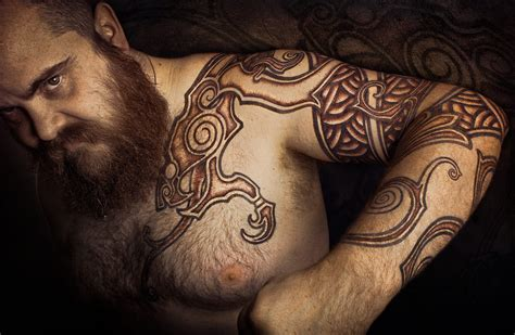 scandinavian tribal tattoos viking vikings norse mythology runes viking