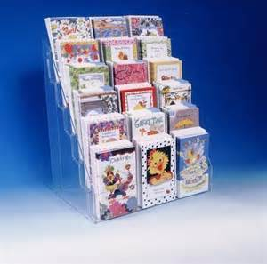 note greeting card display rack new acrylic 6 tier 16 quot counter rack f
