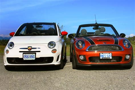 picking the convertible mini jcw or 500 abarth