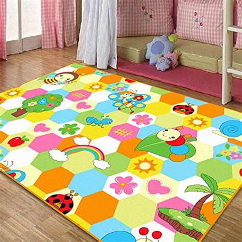 Fadfay Home Textile Cute Honeybee Kids Living Room Carpet Area Rug Childrens Room