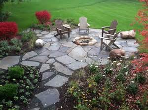 Patios And Firepits Barrington Backyard Flagstone Pit Patio