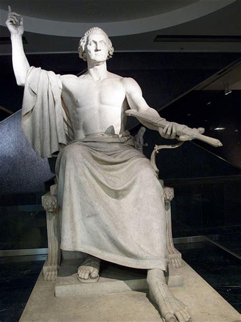 george washington as zeus statue of george washington by horatio greenough flickr
