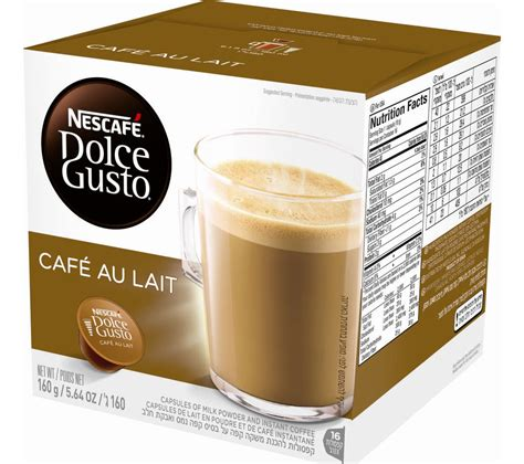 buy nescafe dolce gusto caf 233 au lait pack of 16 free delivery currys