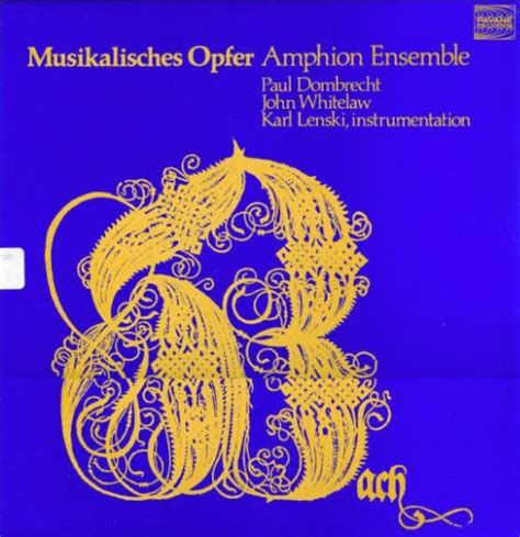 musikalisches opfer bwv 1079 j s bach lp musical offering bwv 1079 discography part 5 complete