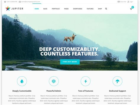 themes jupiter 50 small business wordpress themes for startups 2018