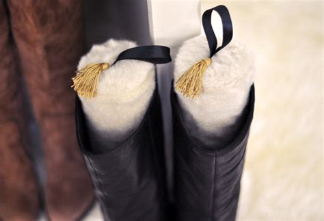 boot stuffers chic diy faux fur boot stands holder uppers w water