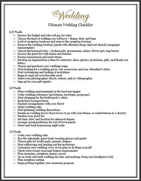 Wedding Checklist Church by Probelagob Wiki Printable Wedding Checklists