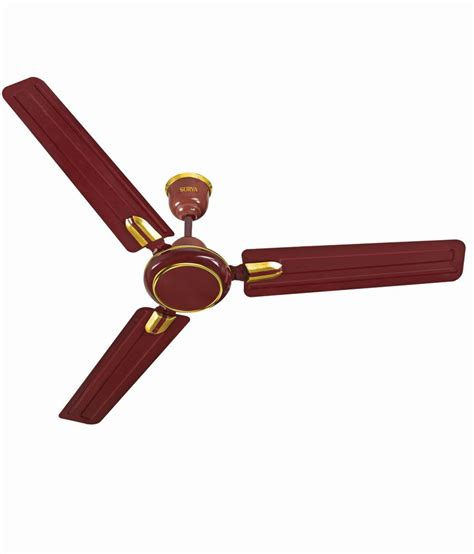 Deco Ceiling Fans by Surya 48 Udaan Deco Air C F 1200mm Ceiling Fan Brown Price