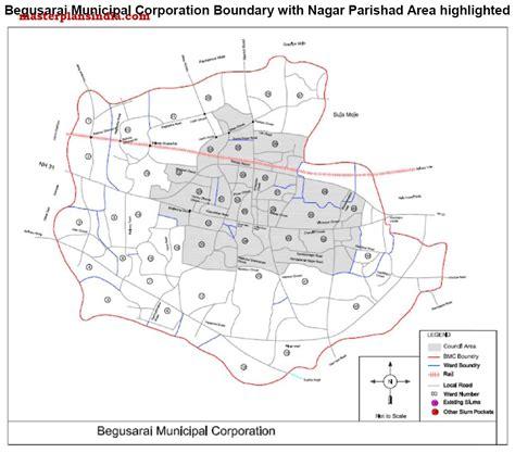 map of begusarai begusarai boundries pdf master plans india
