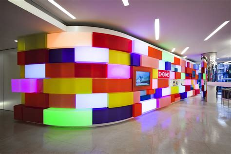 lego headquarters art in the workplace acrylicize brings colour into the