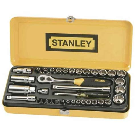 Stanley 88 187 1 23 Socket Std 12dr 12pt 36mm stanley 36 socket set sockets mitre 10
