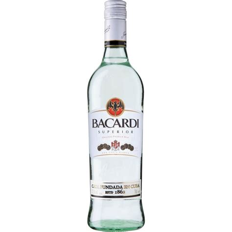 white in bacardi white rum 700ml