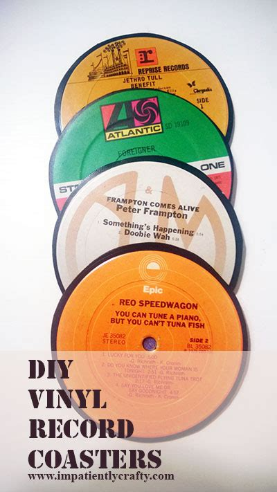 How To Make Records Vinyl Record Coasters Diy Crafts