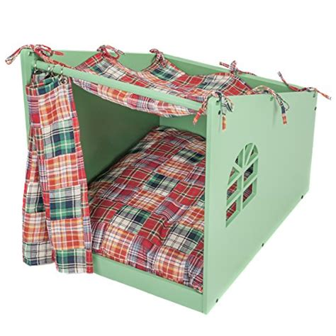 dog houses for medium sized dogs green wooden pet house w bed medium size dogs cats indoor fancy curtain design ebay