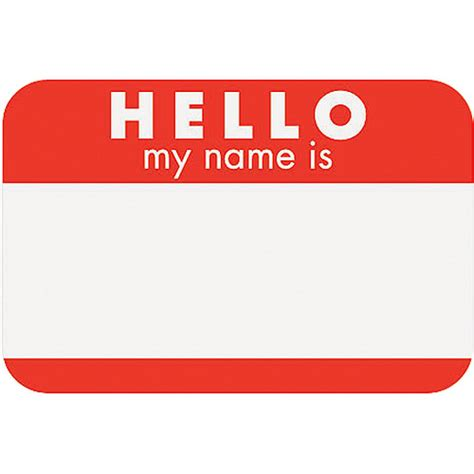 7 best images of hello my name is tags printable hello