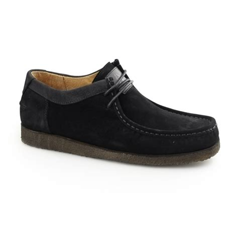 105 Box Hush Puppies Jpg hush puppies davenport low mens suede moccasin shoes black