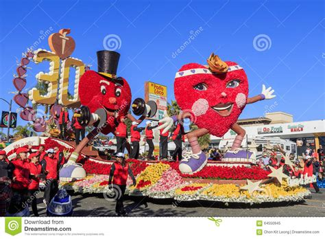 what do american in california rose for new year parade at pasadena california usa january 1 2016 editorial image image 64550945