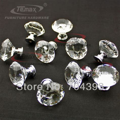 128mm glass crystal acrylic kitchen cabinets knobs and