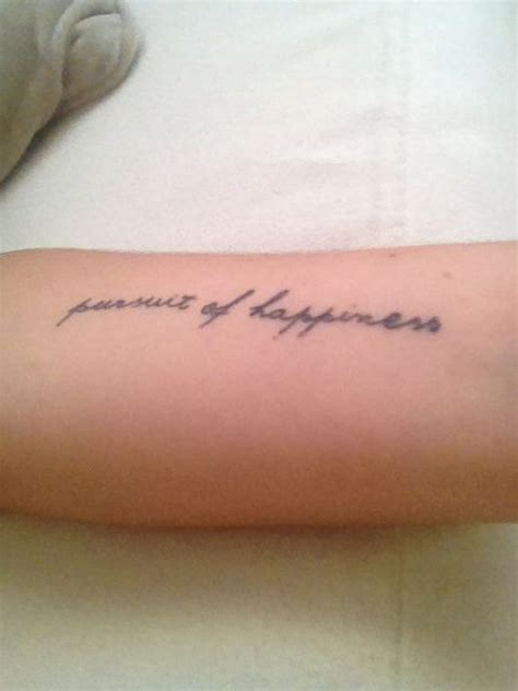 happy tattoos pursuit of happiness tatto persuit of happiness