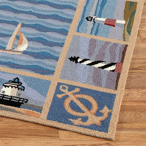 Lighthouse Rugs by New Colonial Lighthouse Rug Runner Blue 2 X 8 Touch Of
