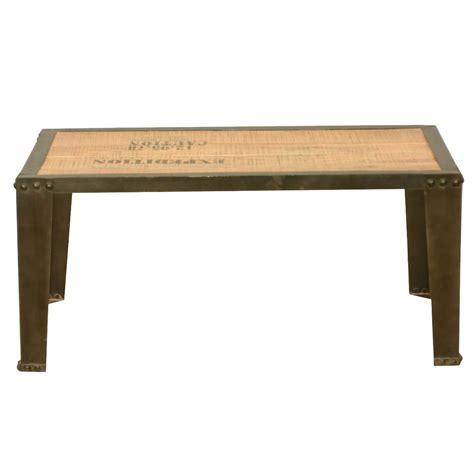 Rustic Metal Coffee Table Rustic Industrial Iron Metal Acacia Wood Cocktail Coffee Table