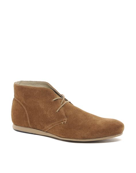 chukka boots suede asos chukka boots in suede in brown for tansuede lyst