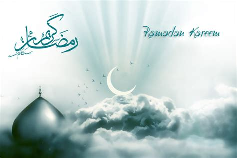 wallpaper bulan biru wallpaper dan background islami bulan suci ramadhan