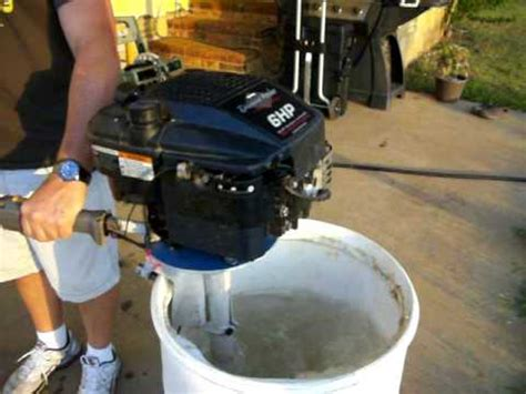 lawnmower boat motor briggs and stratton homemade outboard lawnmower motor