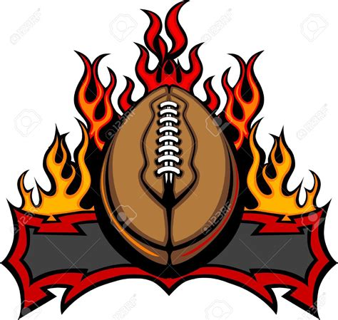 Free Clipart Flaming Soccer by Football With Flames Clipart 101 Clip