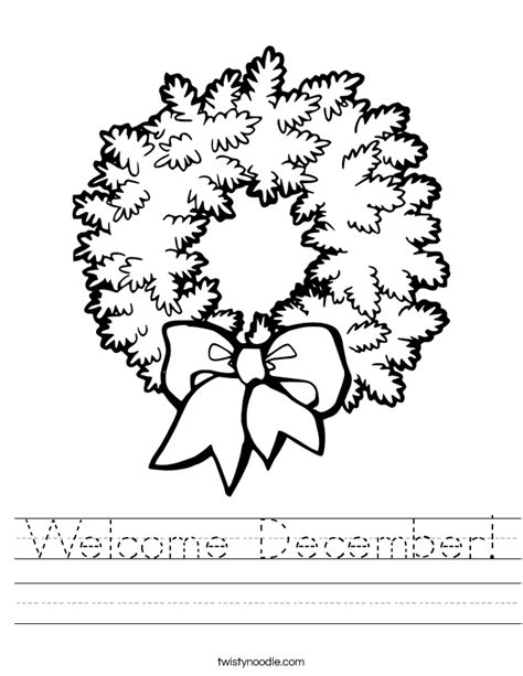 december coloring pages preschool welcome december worksheet twisty noodle