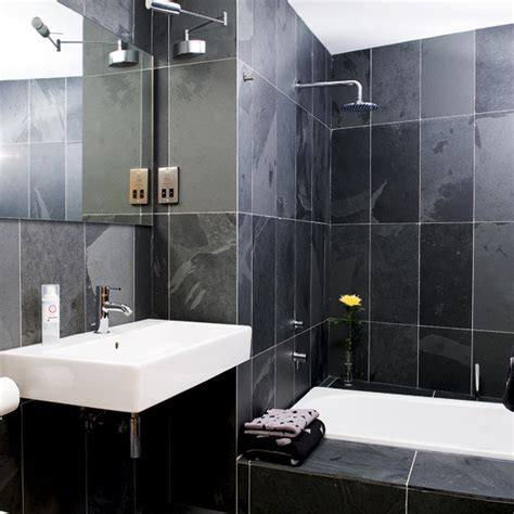 black tiled bathrooms designs fotos de ba 241 os baratos