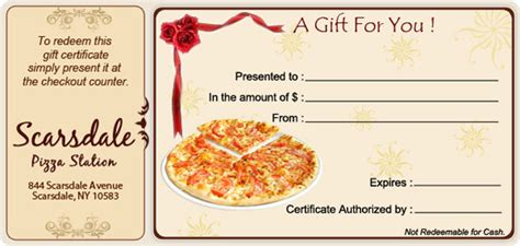 pizza gift certificate template pizza gift certificate templates free choice image