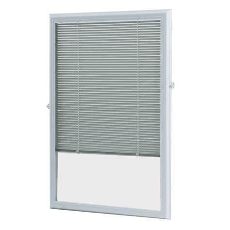 Door Window Blinds by Odl White Cordless Add On Enclosed Aluminum Blinds With 1
