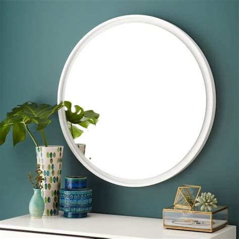 floating wood mirror white west elm orcondo