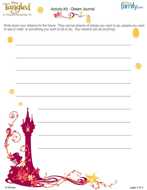 printable disney journal pages disney tangled coloring pages printable