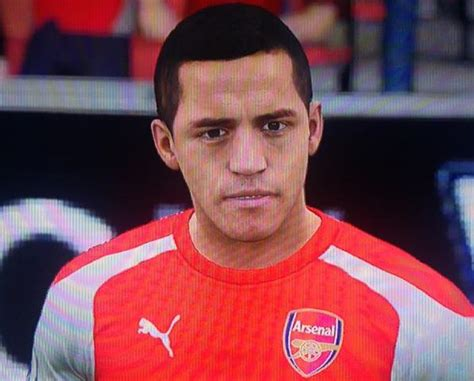 alexis sanchez fifa arsenal news squad s player faces in fifa 16 look