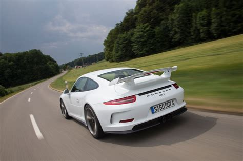 porsche 911 back 2014 porsche 911 gt3 rear left view 2 photo 1