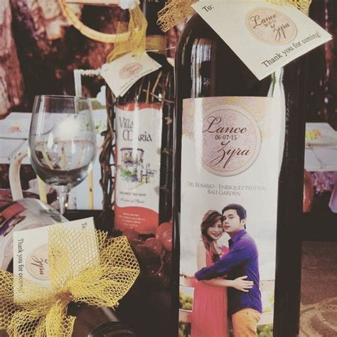 "For Ninong & Ninang Souvenirs ""Personalized Imported Wines"