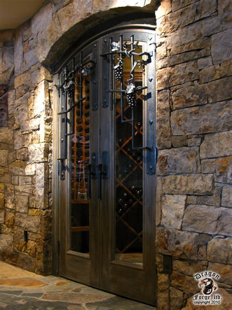 wine room doors wine cellar door grill and hardware contemporary wine cellar denver by forge ltd