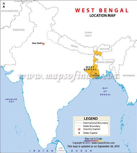 bengal india map west bengal location map