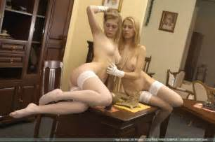high society met art lesbian blondes in stockings