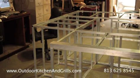 steel frame kitchen cabinets how to build outdoor kitchen aluminum frame for outdoor
