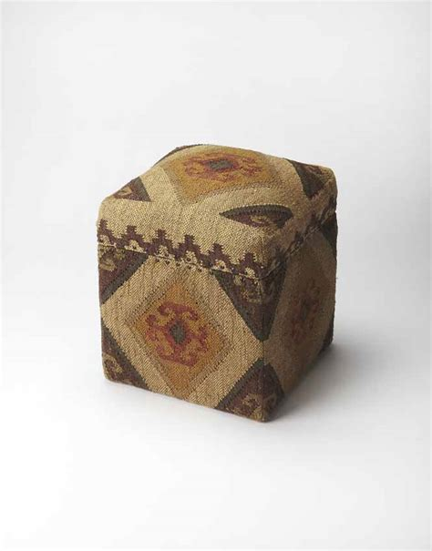 southwestern chairs and ottomans southwestern patterned fabric upholstered storage cube ottoman