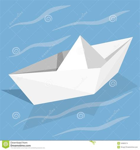 Paper Ship - vector paper ship stock images image 34983574