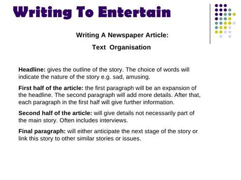 how to entertain writing to entertain